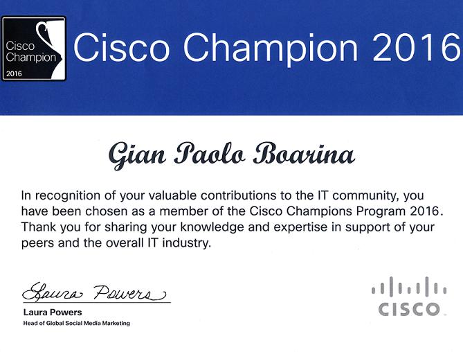 cisco champions certificate